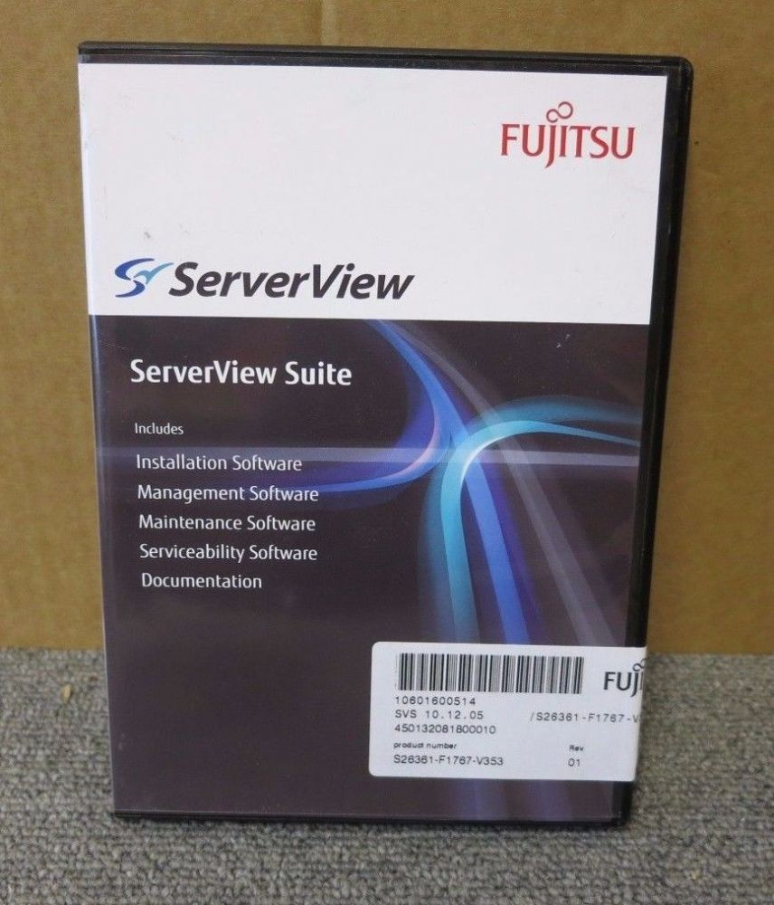 Fujistu S26361-F1767-V353 New ServerView Suite DVD Management Serviceability